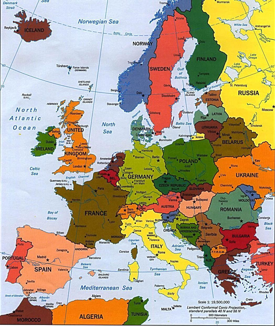 Cartina Europa Politica Con Stati E Capitali Baiestinebun