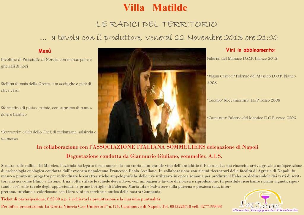 Locandina Villa Matilde