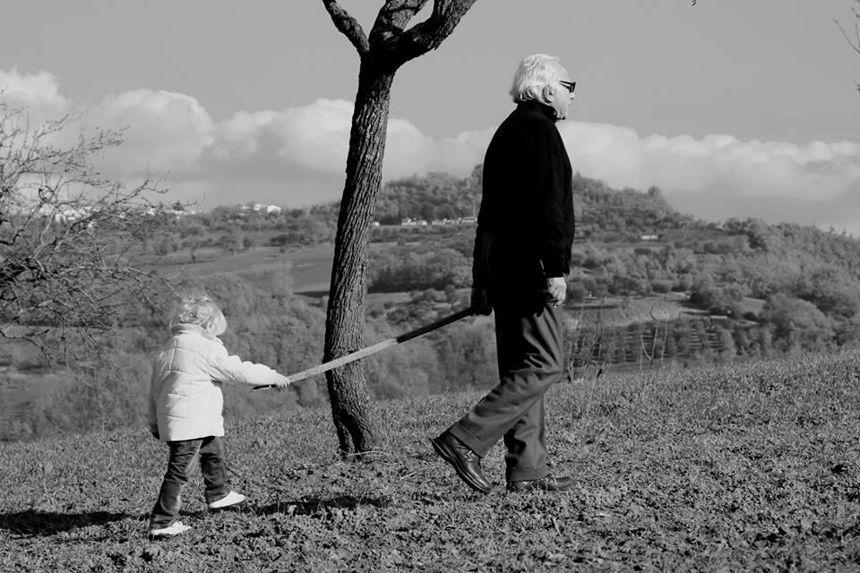 Lorenzo Fonzone con sua nipote (Foto di Ria Stammelluti)