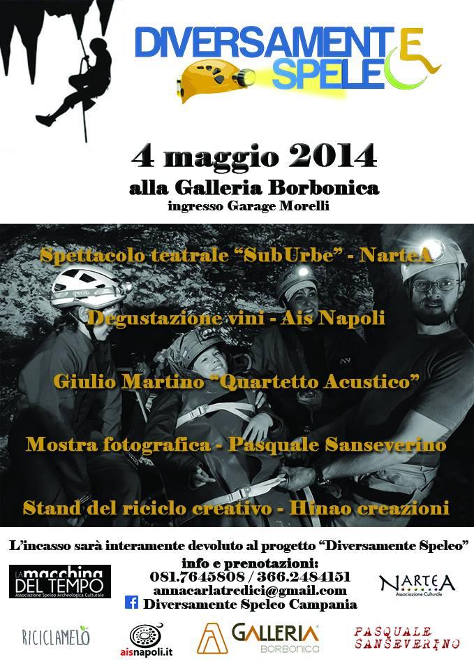 4 Maggio, Diversamente Speleo con Nartea, cantina Rea e Ais Napoli alla Galleria Borbonica