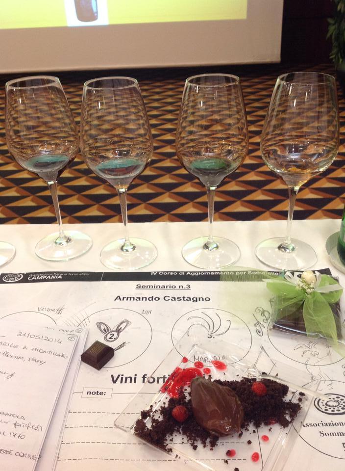 i vini e il dolce