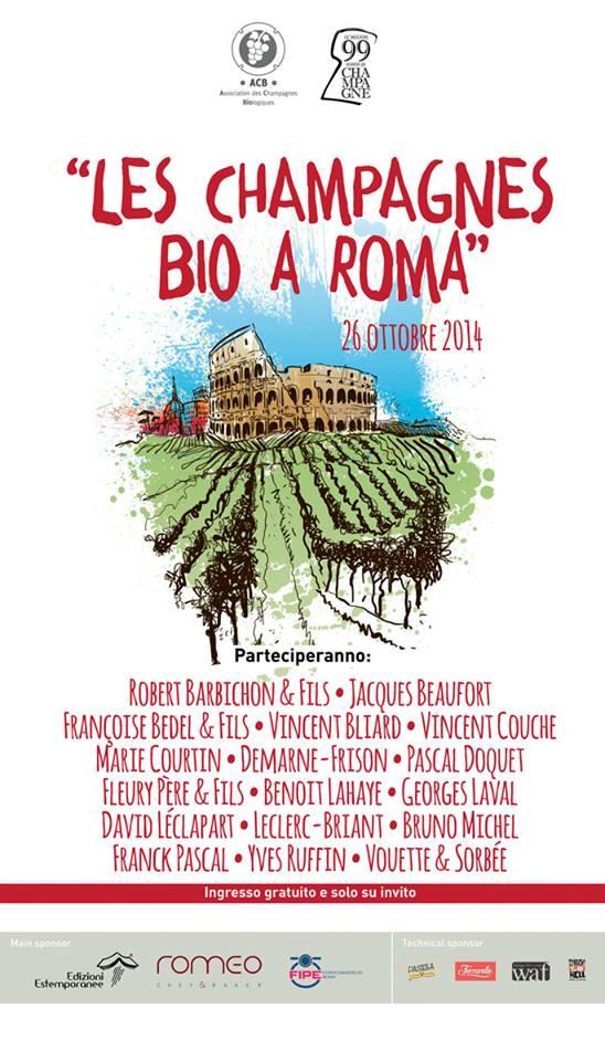 Les Champagnes Bio a Roma