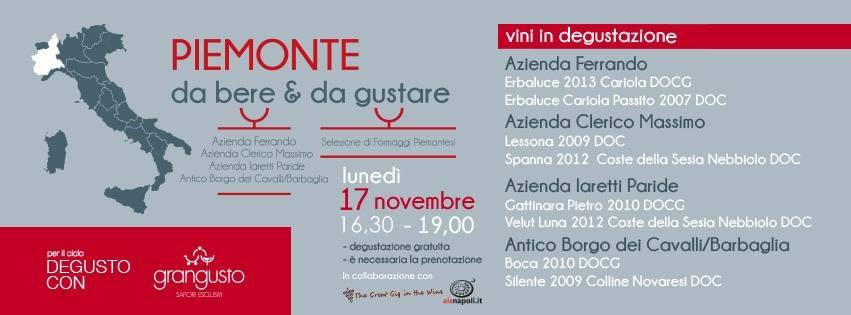 17 Novembre, Piemonte da bere e gustare da Grangusto