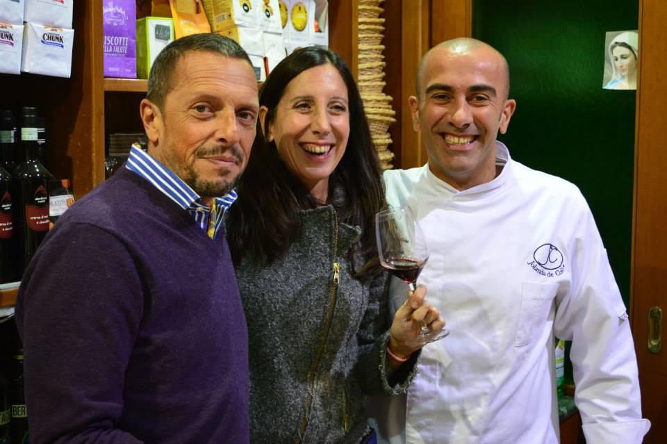 Marcella Russo con Salvatore e Carlo