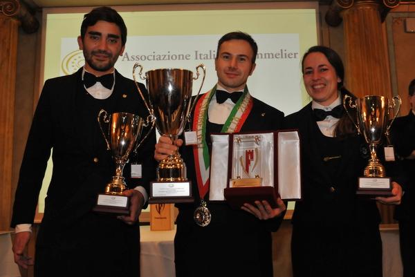Miglior_Sommelier_2014_Luca Degl'Innocenti, Ottavio Venditto e Valentina Merolli Porretta
