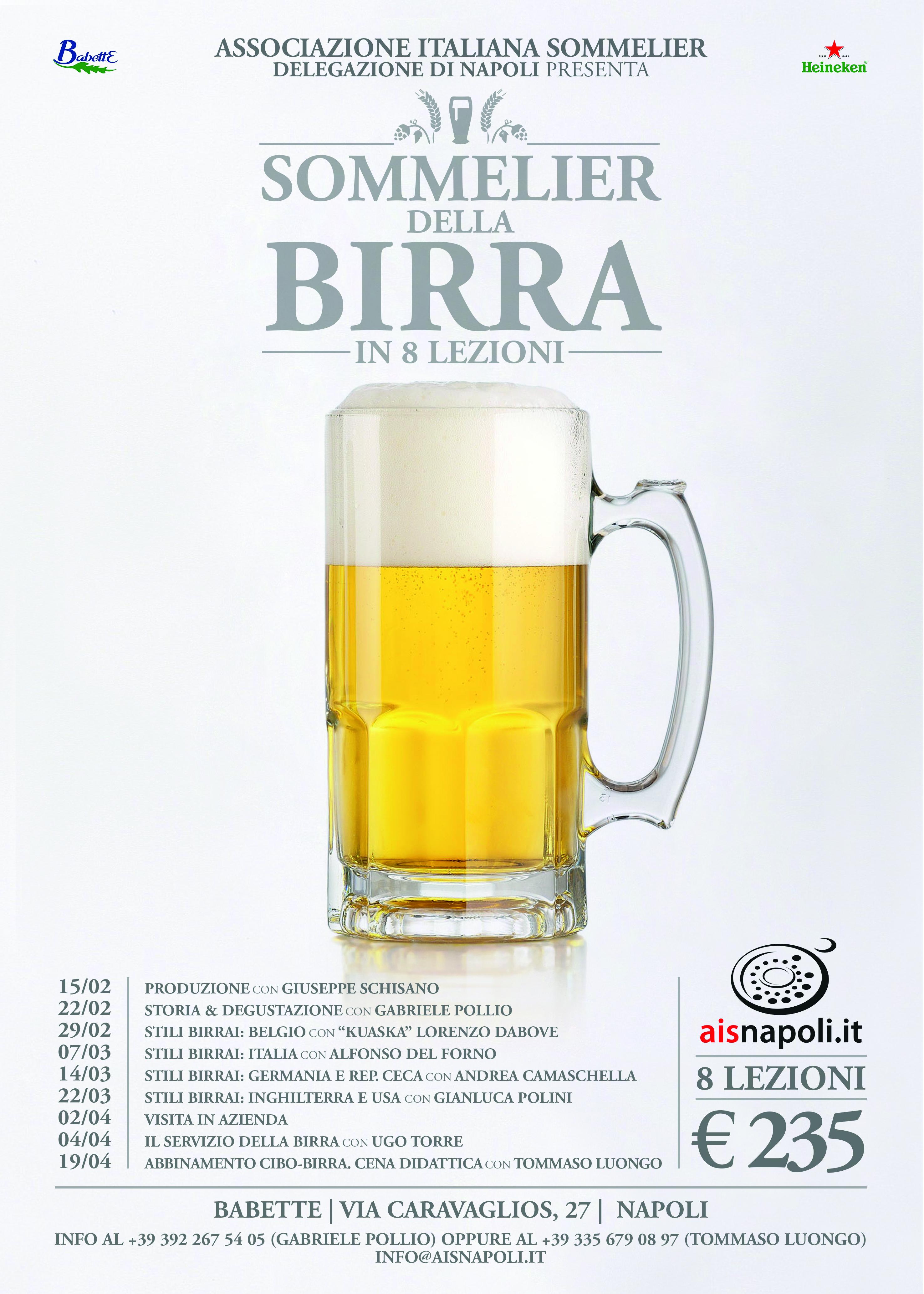 Dal 15 Febbraio Sommelier della Birra da Babette con Ais Napoli