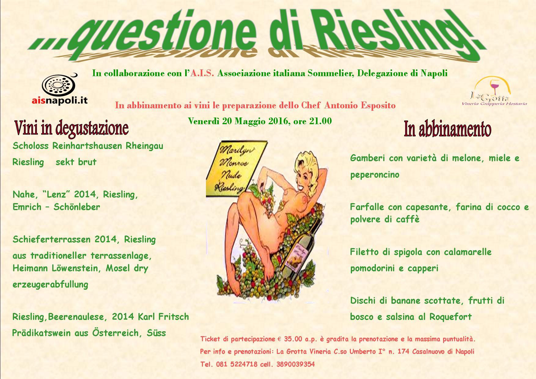 20 Maggio, Questione di Riesling a La Grotta con AIS Napoli