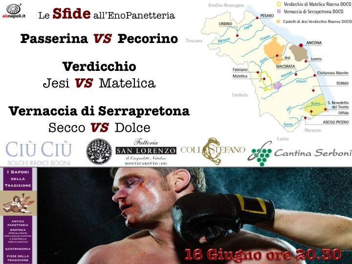"""16 Giugno, Sfide """"marchigiane"""" all'EnoPanetteria con Ais Napoli"""