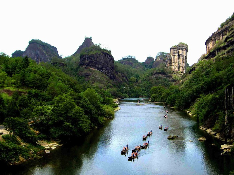 canyon with river in wuyishan