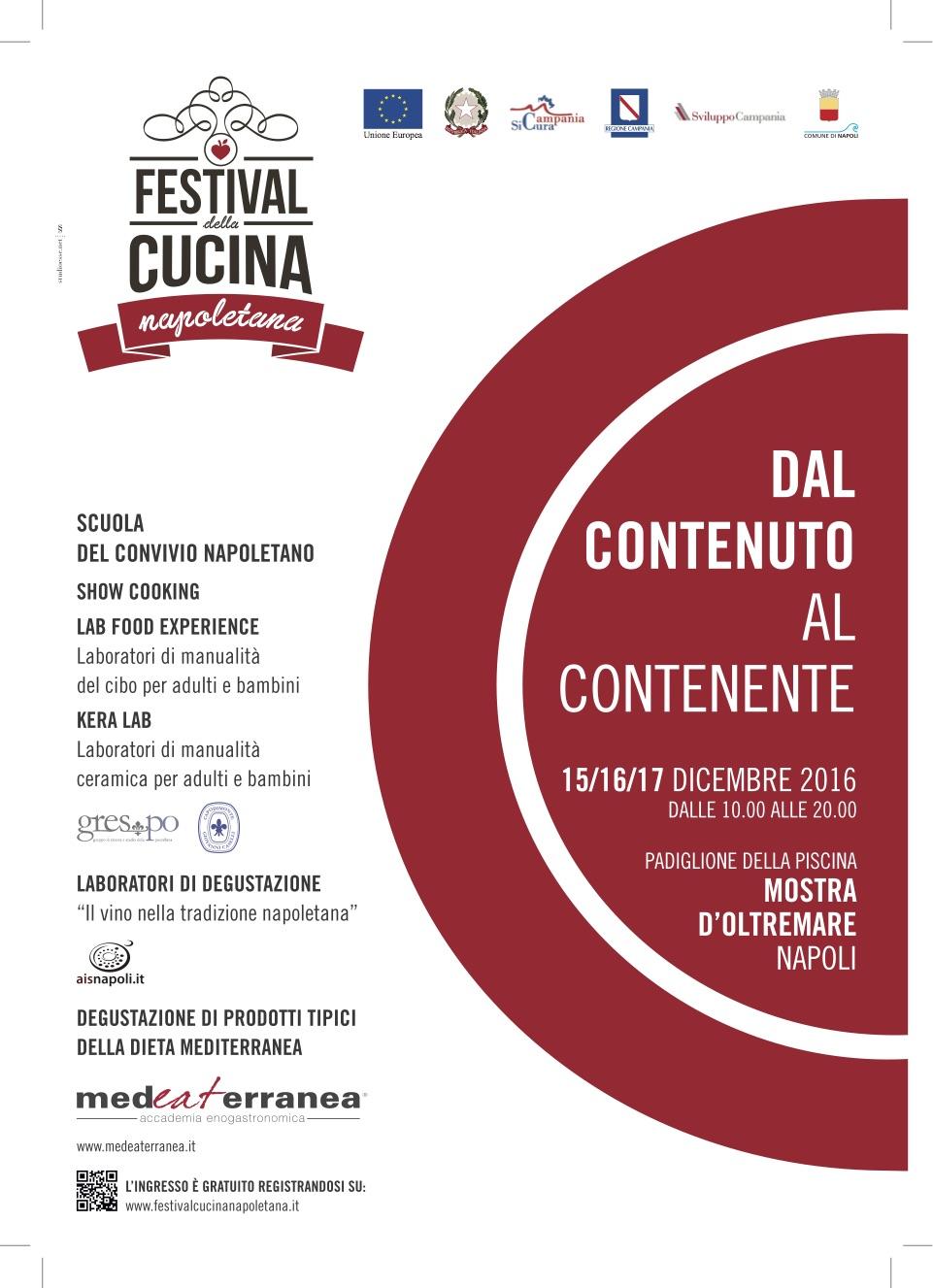 Locandina Festival della Cucina Napoletana