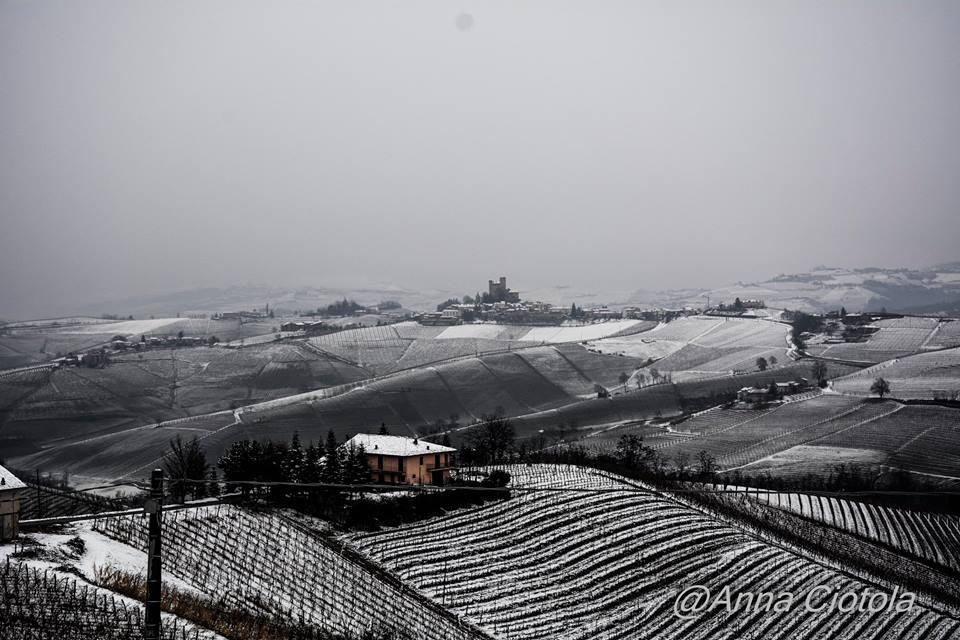 la neve nelle Langhe