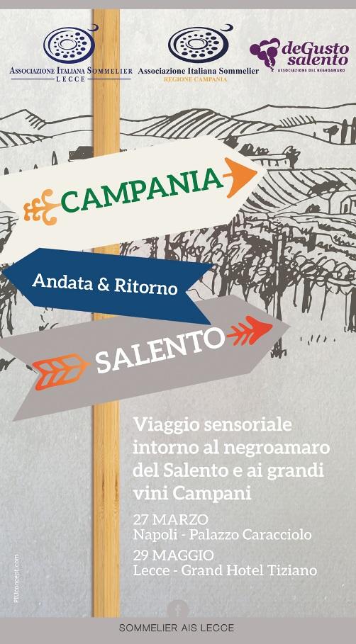 """27 Marzo, """"Campania – Salento Andata & Ritorno"""" a Palazzo Caracciolo"""