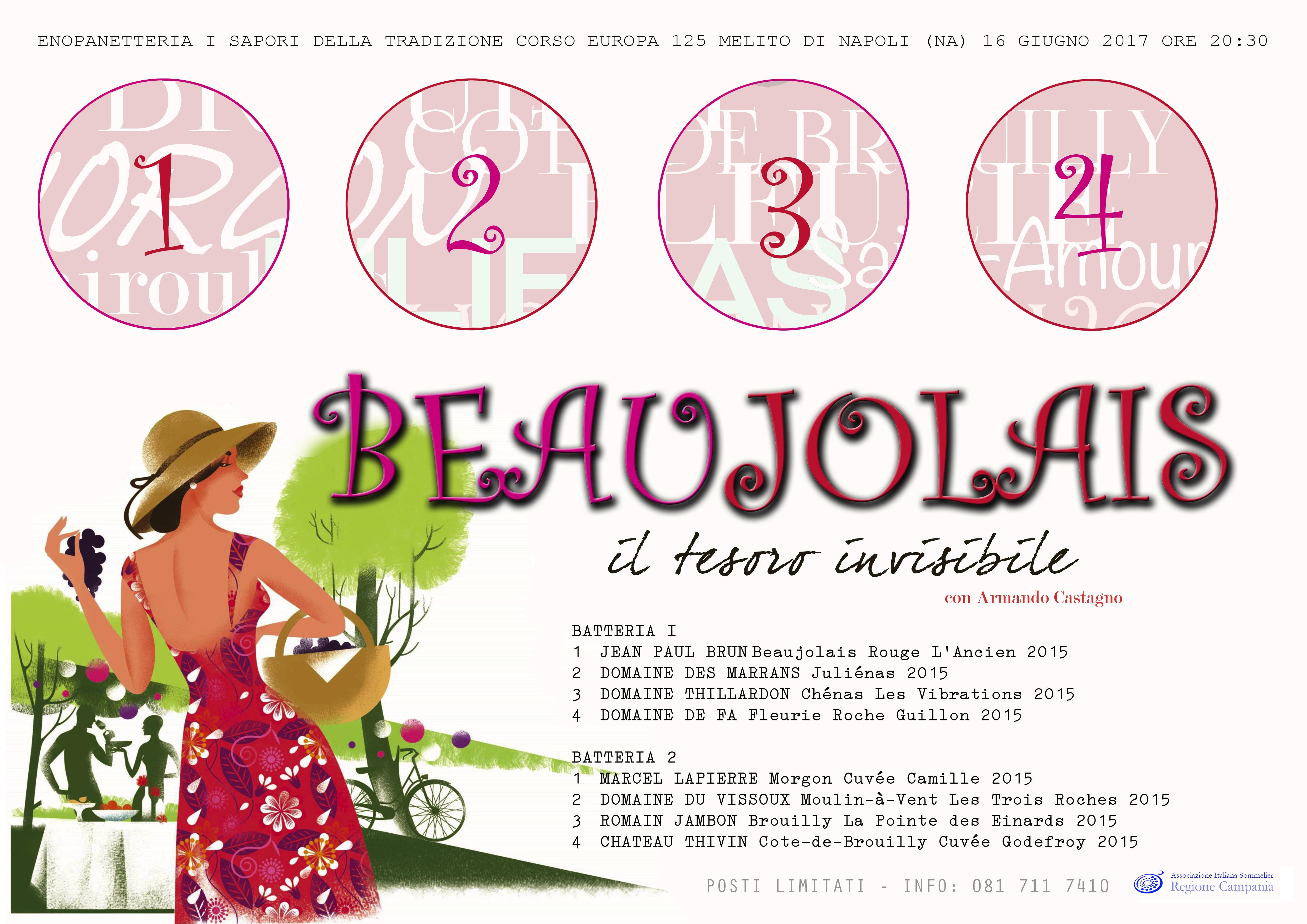 16 Giugno, Beaujolais, il Tesoro invisibile con Armando Castagno all'EnoPanetteria