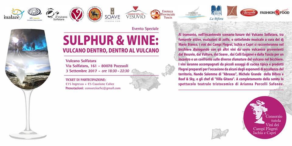 3 Settembre, Sulphur & Wine. Vulcano dentro, dentro al Vulcano per Malazè 2017