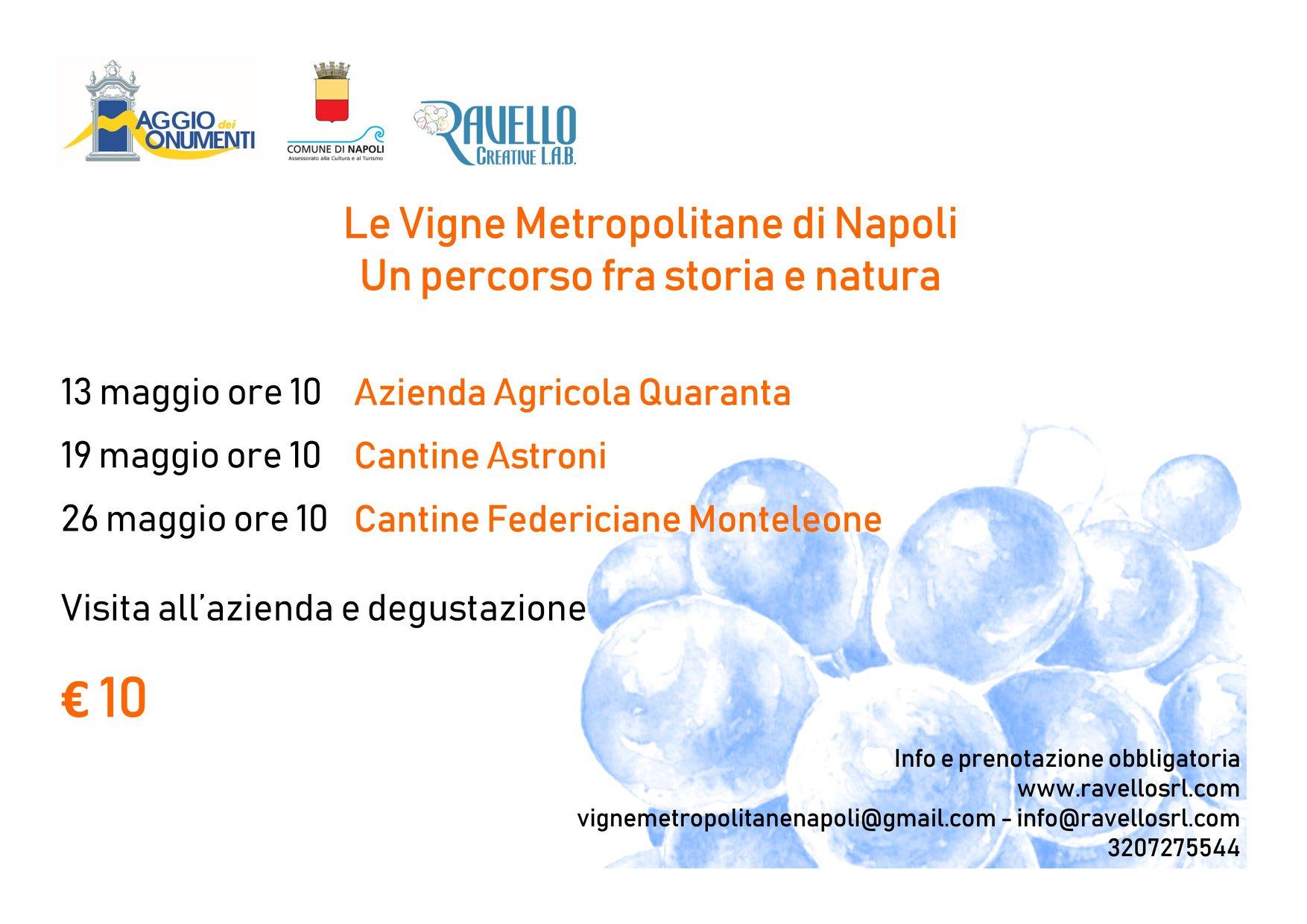 Le Vigne Metropolitane di Napoli a Maggio dei Monumenti 2018