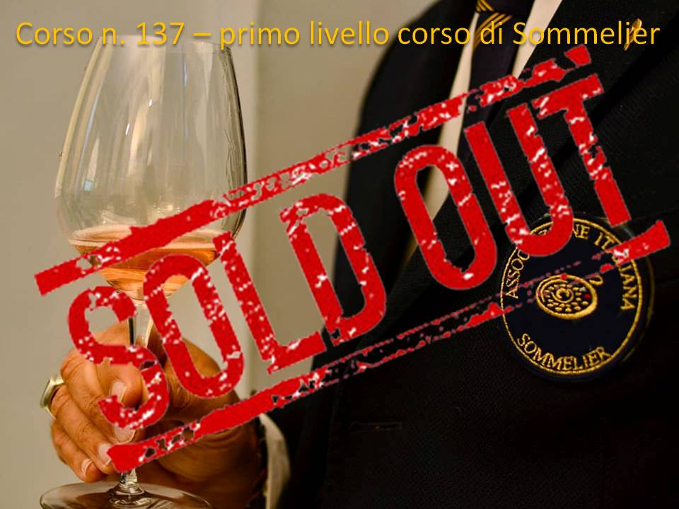 Sold Out per il Corso Sommelier n.137